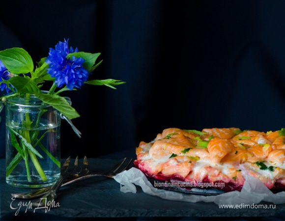 Восхитительный торт из лосося с имбирным маслом