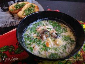 Молочный суп с грибами