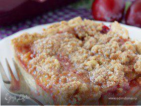 Сливовый пирог с грецкими орехами