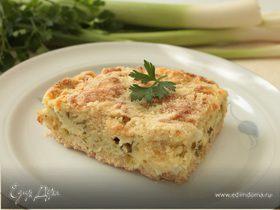 Насыпной пирог с творогом и зеленью