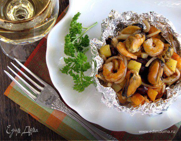 Корзиночки с морепродуктами