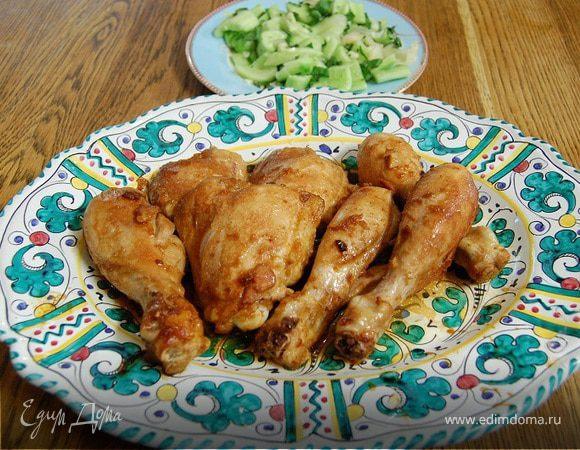 Цыпленок по-восточному с имбирем и чесноком