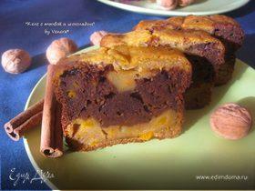 Кекс с тыквой и шоколадом