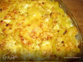 Запеканка из картофеля, кабачка и с сыром