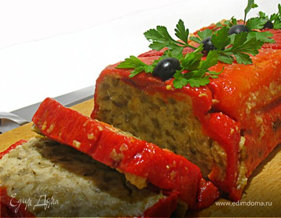 Баклажановый террин в сладком перце