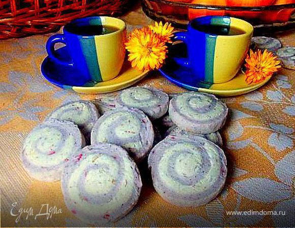 Печенье малиново-ореховое
