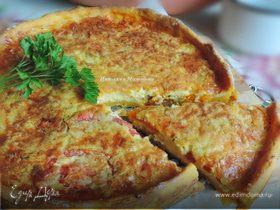 Картофельно-тыквенный пирог с помидорами