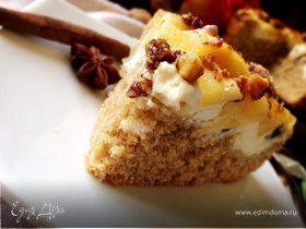 Творожно-яблочный пирог с гранолой