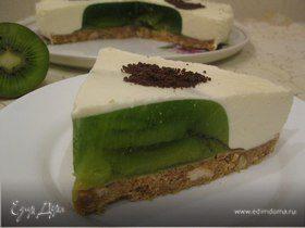 Торт из киви желейный