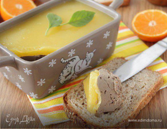 Паштет из печени с апельсиновым желе