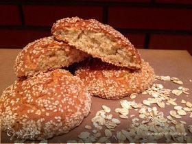 Овсяное печенье в кунжуте
