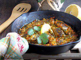 Белая рыба, запеченная в пикантном соусе