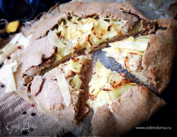 Пшенично-ржаная галета с яблоками и картофелем