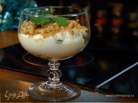 Slim-десерт из винограда, маскарпоне и грецких орехов