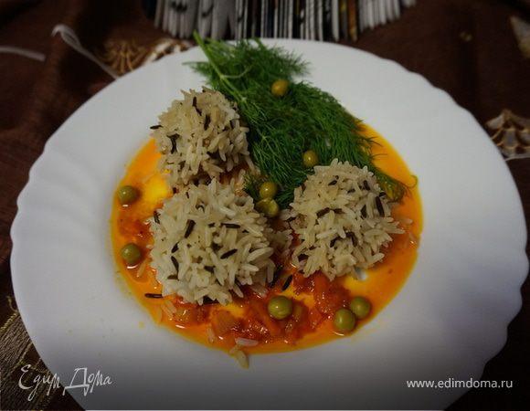 Паровые фрикадельки с рисом
