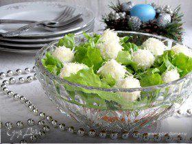 """Новогодний салат """"Снежки"""""""