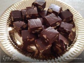 Шоколадно-ореховый фадж без масла