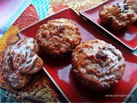 Кексы из печенья с вяленой клюквой