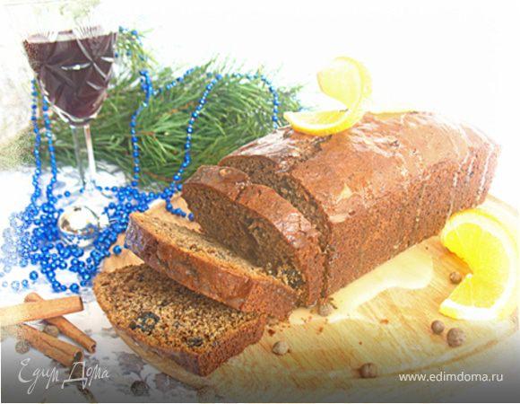 Пряный кекс с вином и черносливом