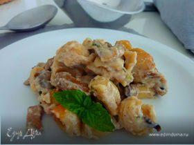 Запеченная паста с грибами