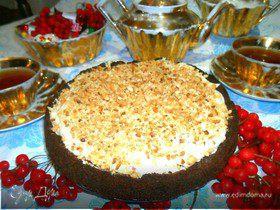 Торт с арахисовым крем-муссом без выпечки