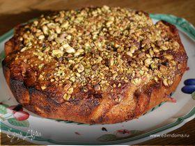 Ореховый пирог с вишней