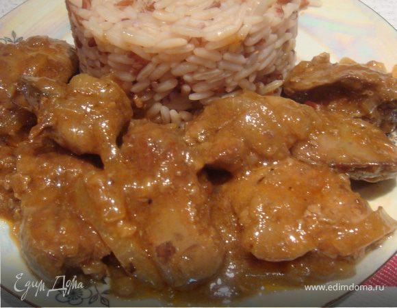 Куриная печень в пикантном соусе