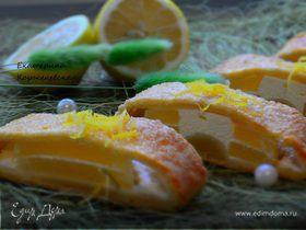 Пирог с ананасами и творогом