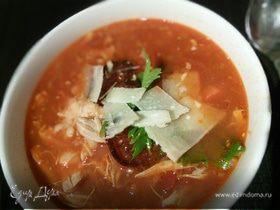 Куриный чили-суп с белой фасолью
