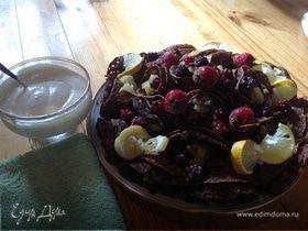 Букет из шоколадно-блинных роз