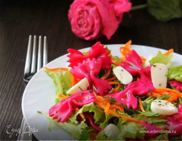Салат с пастой и овощами