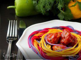 Праздничные спагетти с фрикадельками