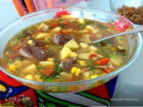 Суп из тунца с овощами