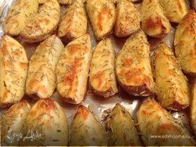 Картофель с чесноком и розмарином
