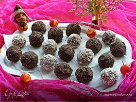 Конфеты из маскарпоне в халве и кокосе
