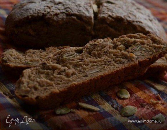 Ржаной хлеб с тыквенными и льняными семечками