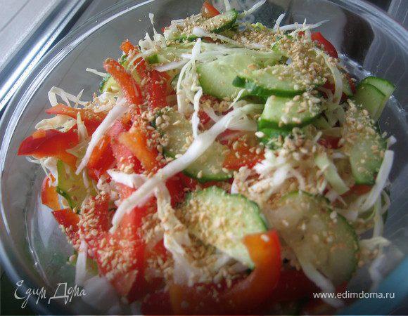 Овощной салат в азиатском стиле