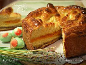 Праздничный сдобный пирог