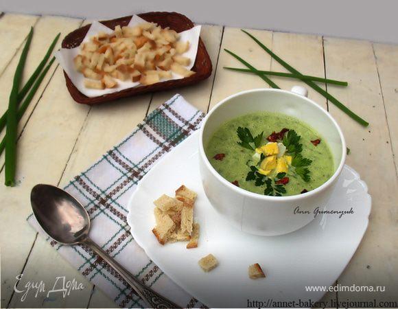 Весенний суп из зеленого лука