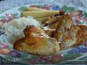 Кисло-сладкие куриные крылышки