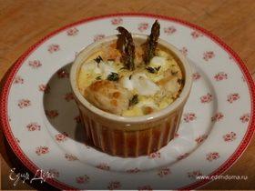 Тарталетки со спаржей, розмарином и сыром