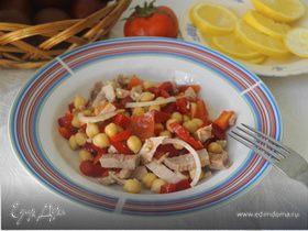 Салат из нута и болгарского перца