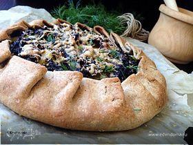 Ржаная галета с картофелем и грибами