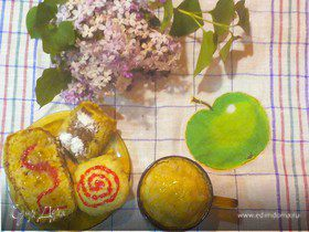 Лёгкие апельсиново-банановые кексы