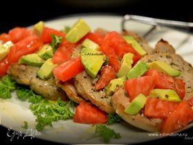 "Свинина ""Юкатан"" с авокадо и томатом"