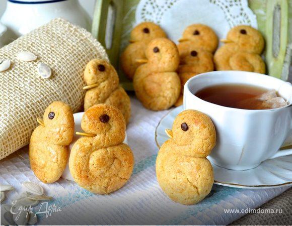 """Сахарно-коричное печенье """"Уточки"""""""