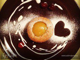 Миндальные кексы с персиками