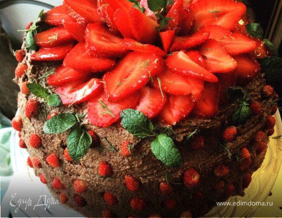 Веганский сыроедный шоколадно-морковный торт