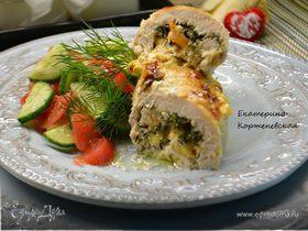 Куриная грудка, фаршированная креветками и сыром
