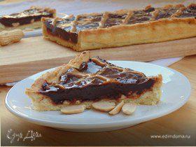 Шоколадно-арахисовый тарт